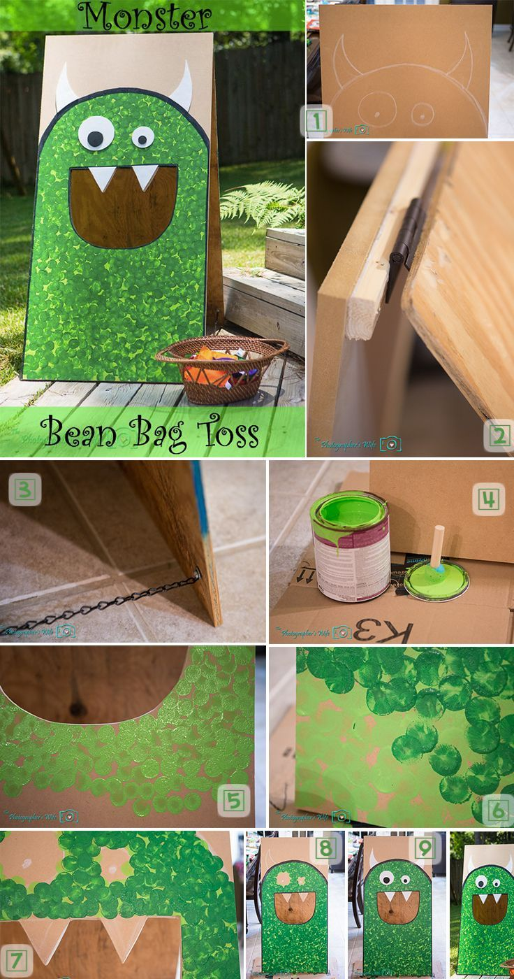 14 Fun And Incredible Halloween Games 8 Monster Bean Bag Toss
