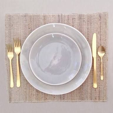 Image Result For Table Settings With Gold Cutlery Grey Plates Dinner Plates Plates