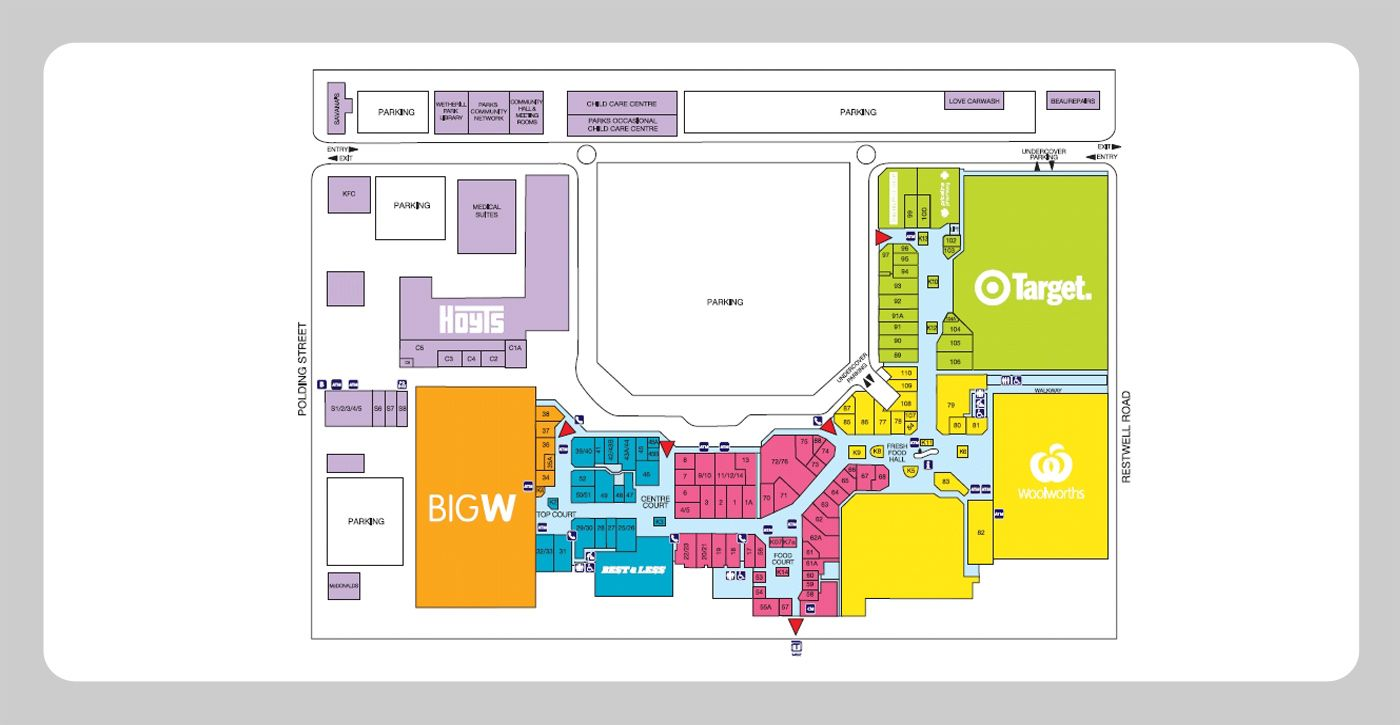 Shopping Mall Floor Plan Presentation Boards Pinterest