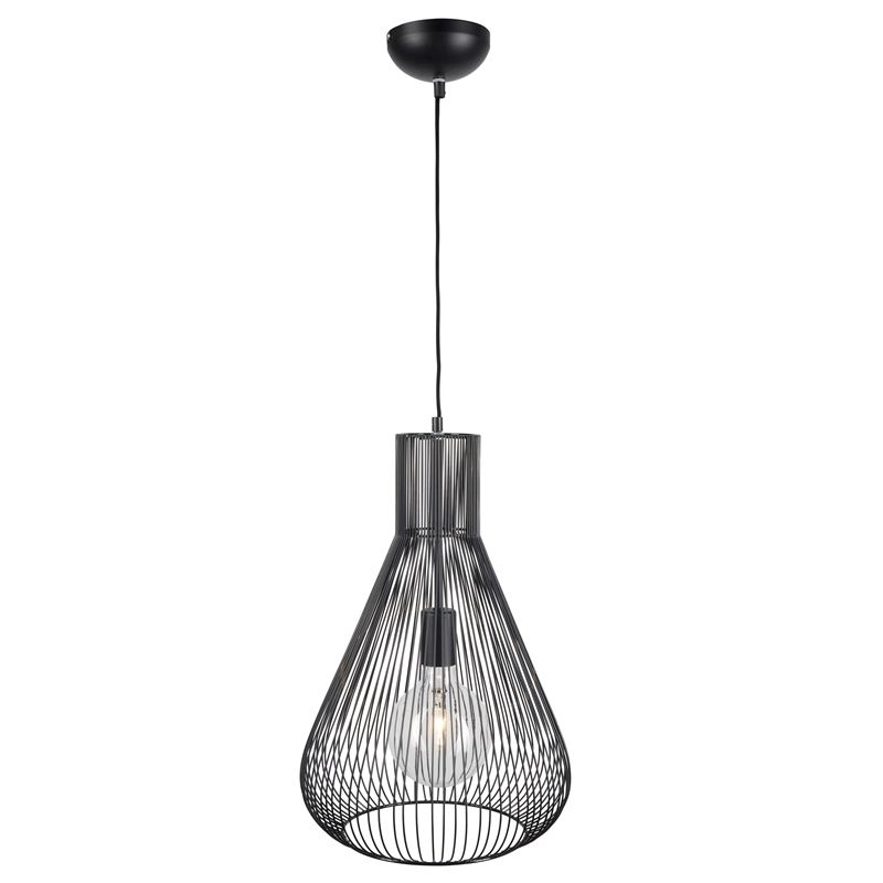 Brilliant lighting 31cm cardin wire pendant light black