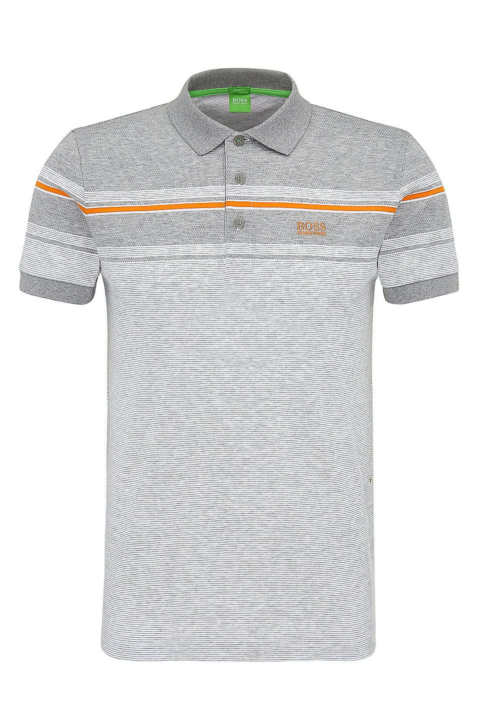 2c18a712 'Paule' | Slim Fit, Striped Cotton Polo Shirt White from BOSS Green for Men  for $108.99 in the official HUGO BOSS Online Store free shipping