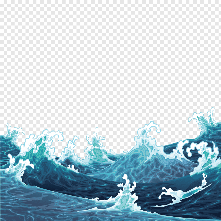Big Wave Illustration Illustration Waves Are Raging Free Png Wave Illustration Water Illustration Waves Sketch