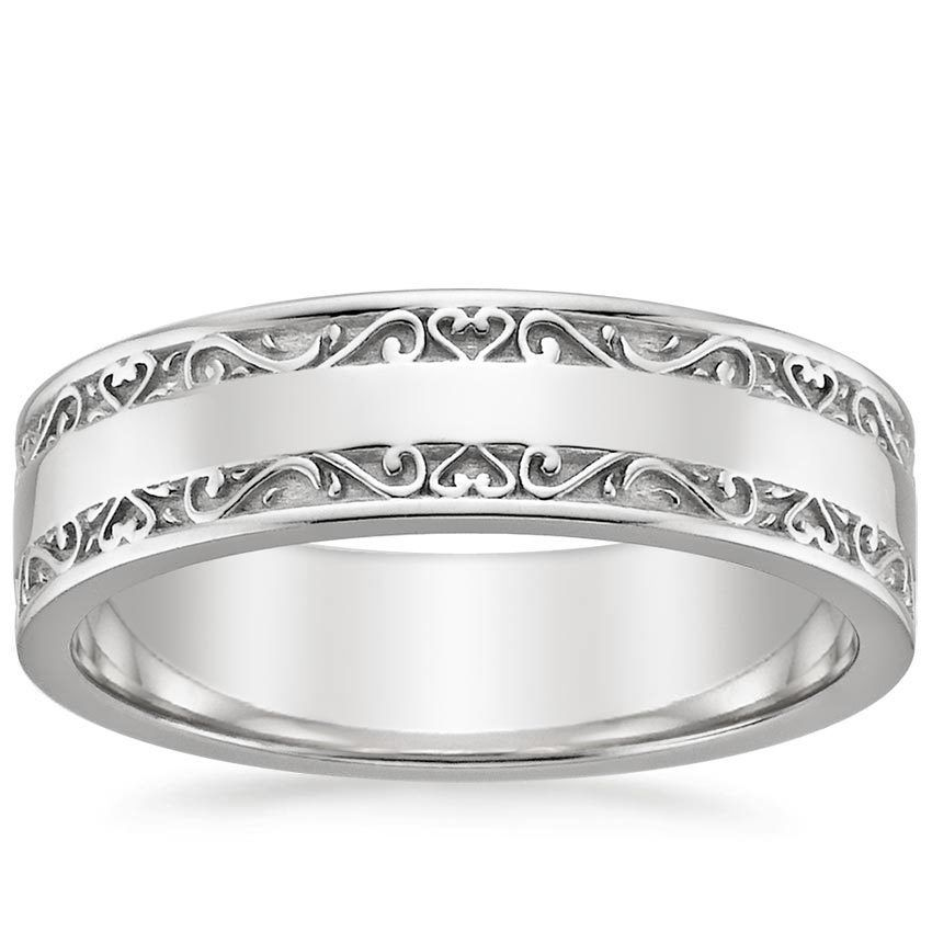 stephanie matthews giovannis ring inscribed ti amo my bella white gold platinum wedding - White Gold Wedding Rings