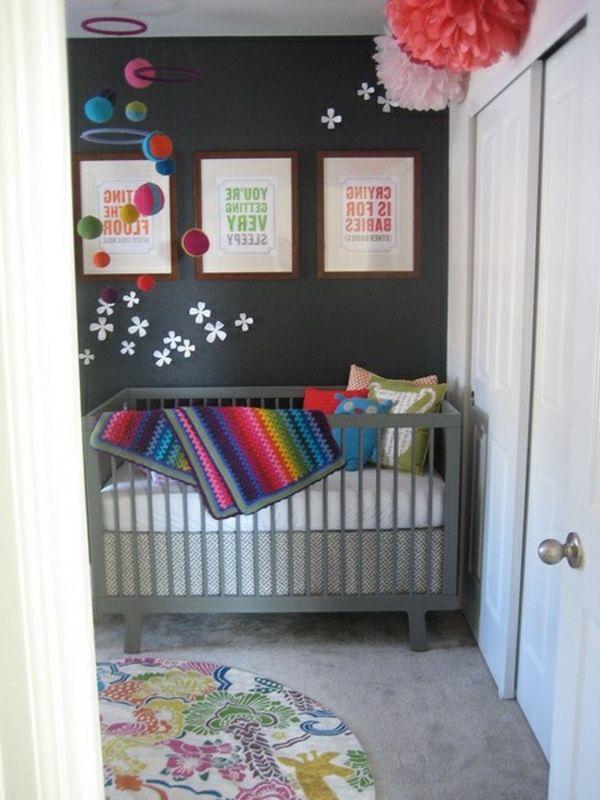 Drei Bilder Graue Wand Kosmos Deko Im Babyzimmer   45 Auffällige Ideen U2013  Babyzimmer Komplett Gestalten