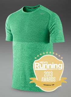 5815c4f9de07 Nike Dri-Fit Knit SS Top - Gamma Green Htr Reflective sil - Mens Running  Clothing - Pro-Direct Running