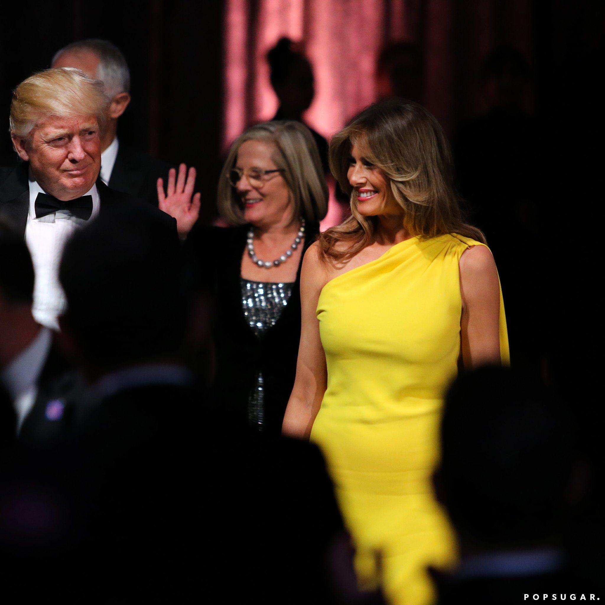 картинки по запросу Melania Trump Yellow Dress Dresses Pinterest