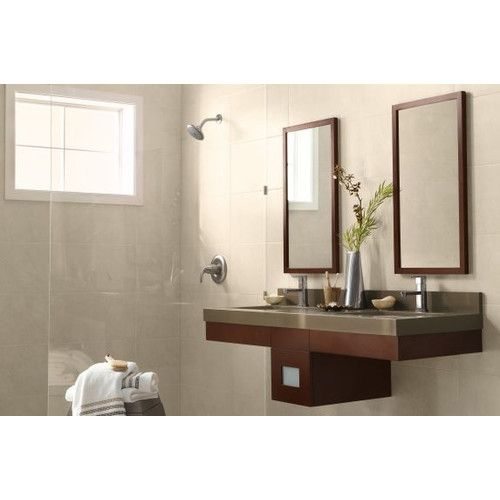 Found it at Wayfair - Contemporary Solid Wood Framed Bathroom Mirror in Dark Cherry