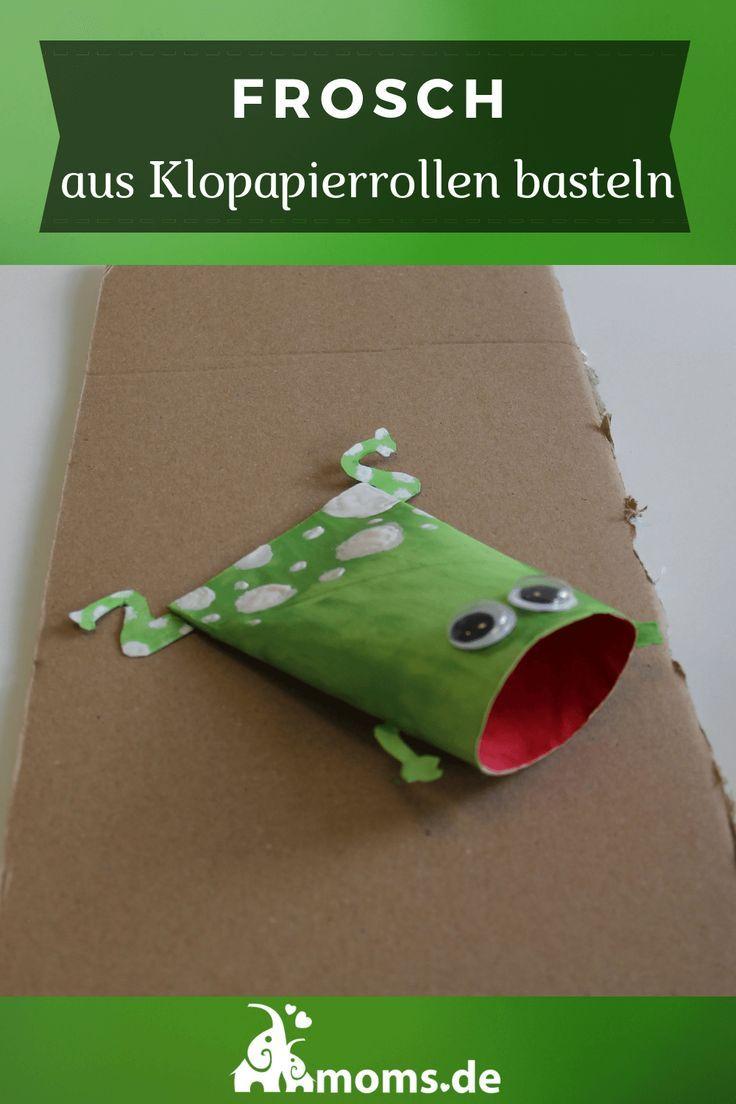 Frosch aus Klopapierrollen basteln - Moms.de