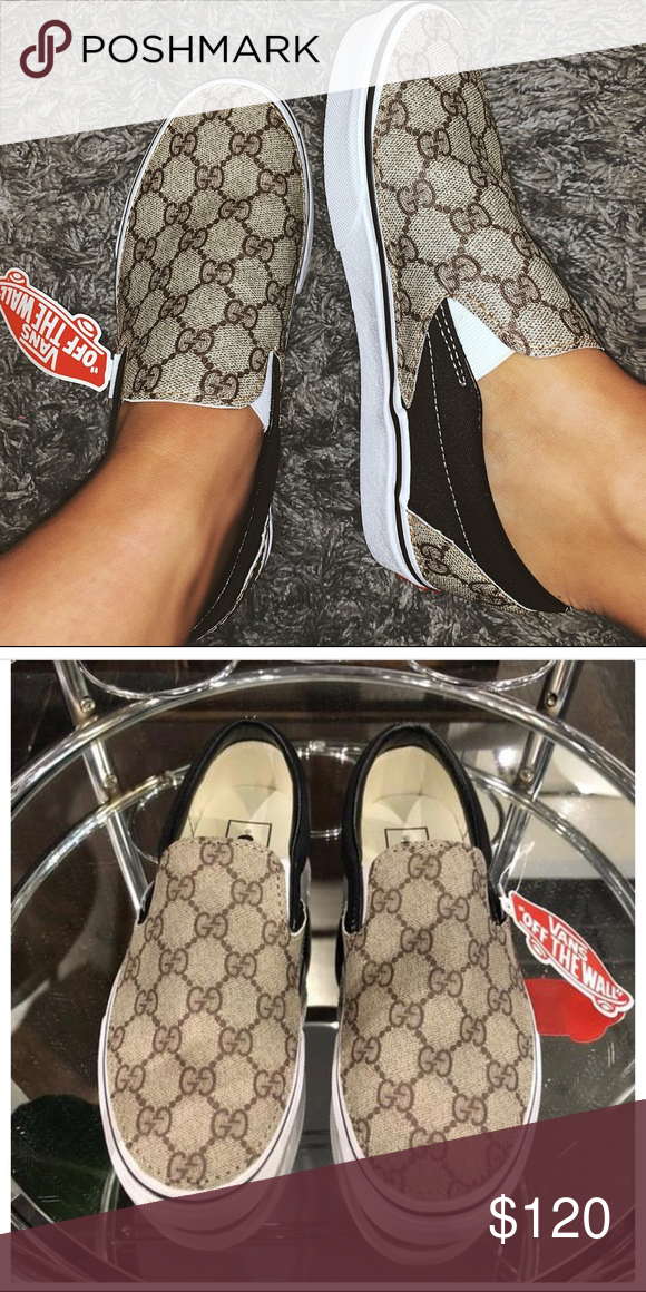 Vans x Gucci Slip on shoes Traditional