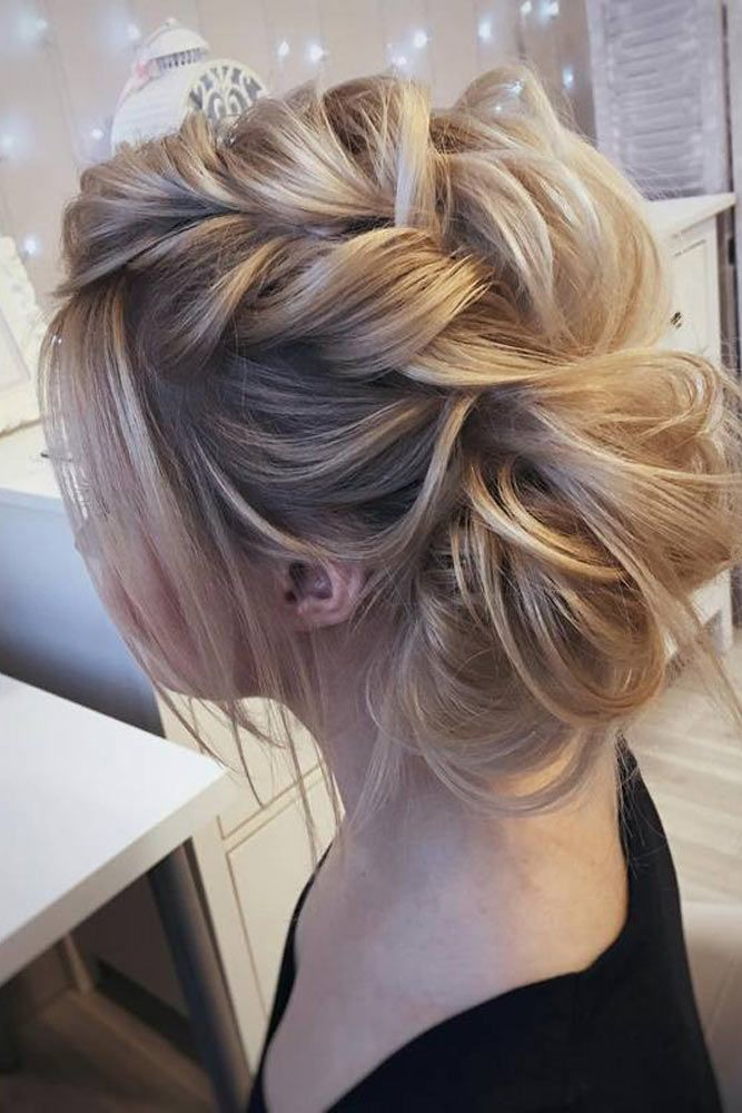 27 Chic Updos For Medium Hair  Bun Hairstyles For Long -7309