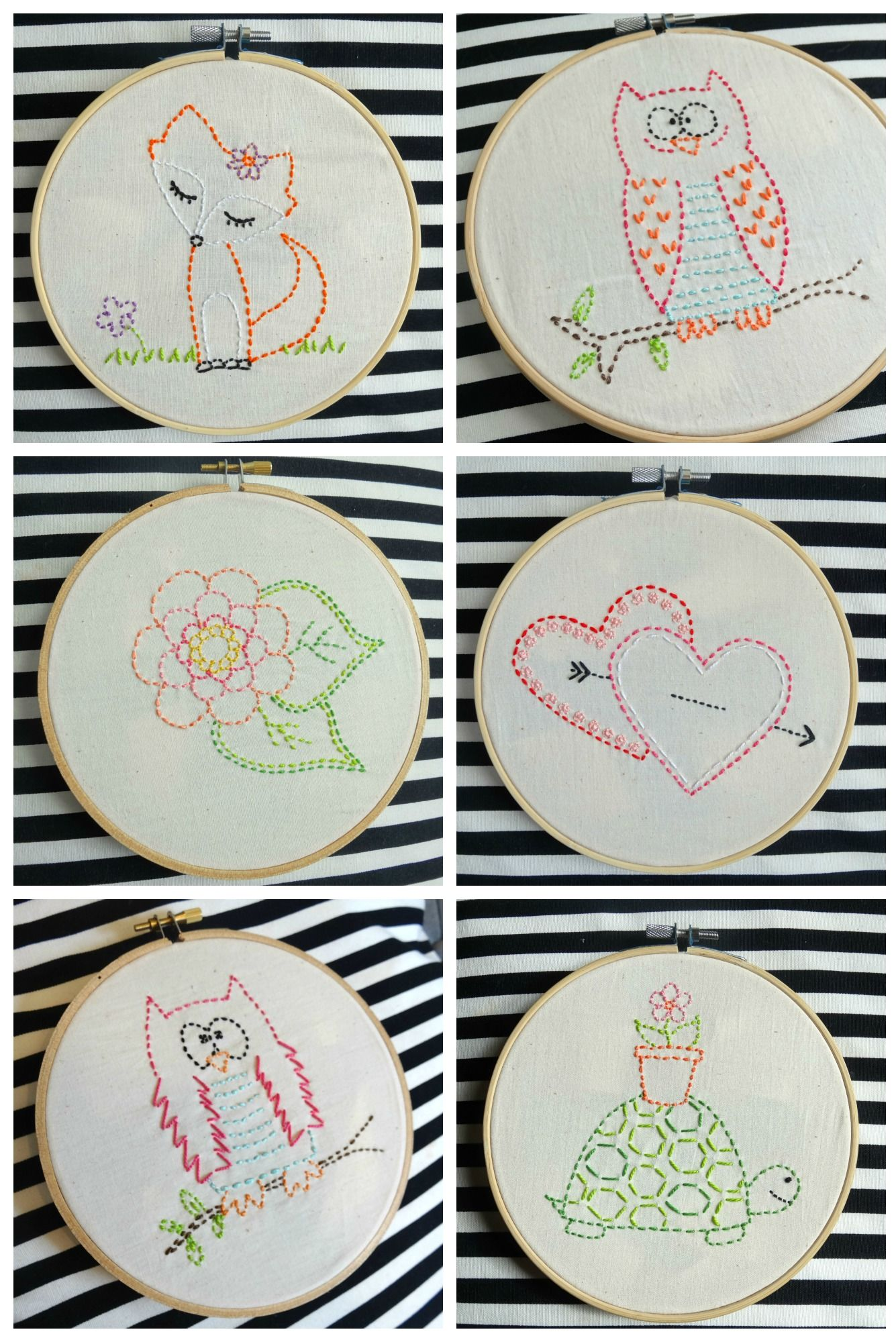Easy Embroidery : embroidery, Simple, Embroidery, Designs, Embroidery,, Designs,