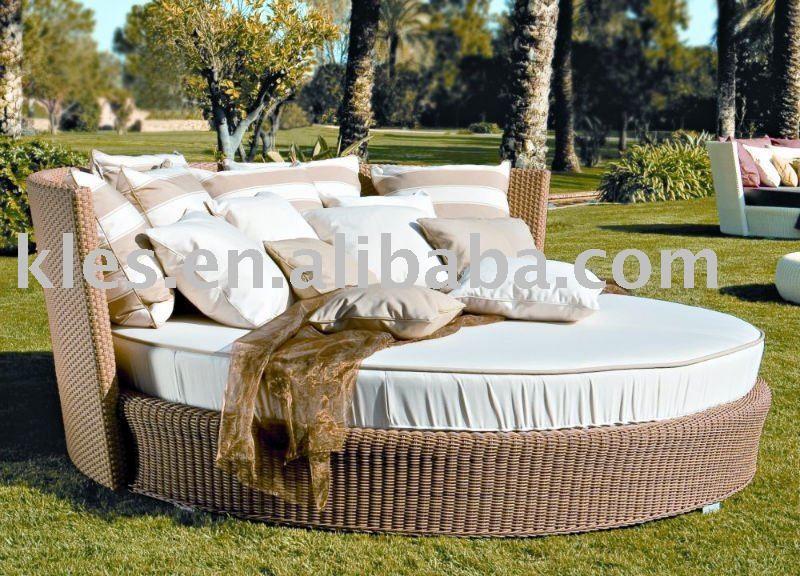 Perfect Outdoor Patio Furniture Big Round Sofa Bed KS5163 $1~$320