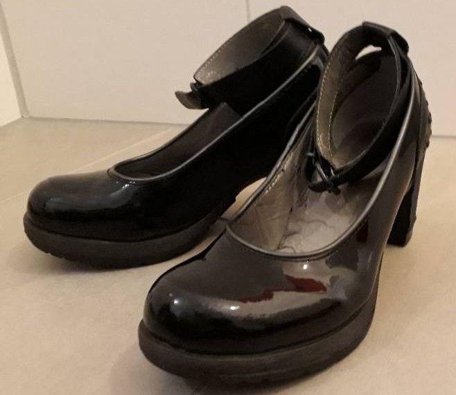 Dr Martens Pumps High Heels Schwarz Lack Gr 38 Estilo Personal Zapatos Estilo