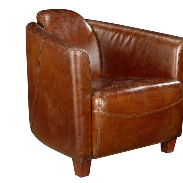 Kailey Leather Barrel Chair Reviews Allmodern Club Chairs Leather Accent Chair Leather Lounge Chair