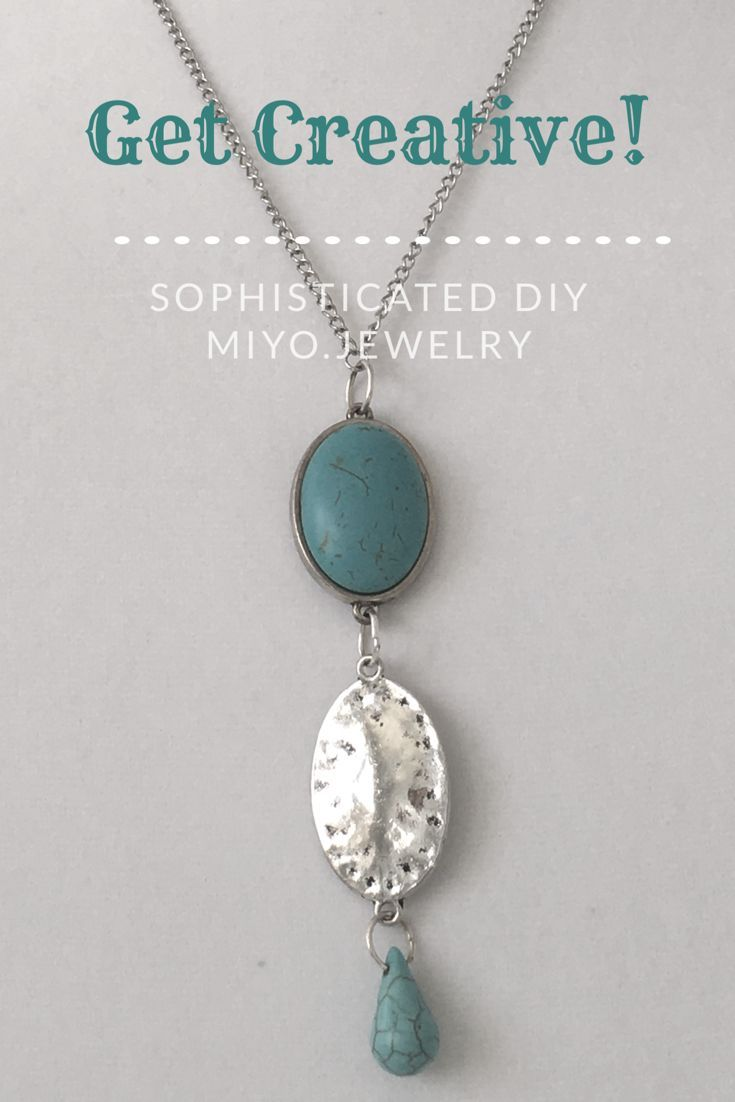 Make this beautiful turquoise and silver pendant necklace it gives