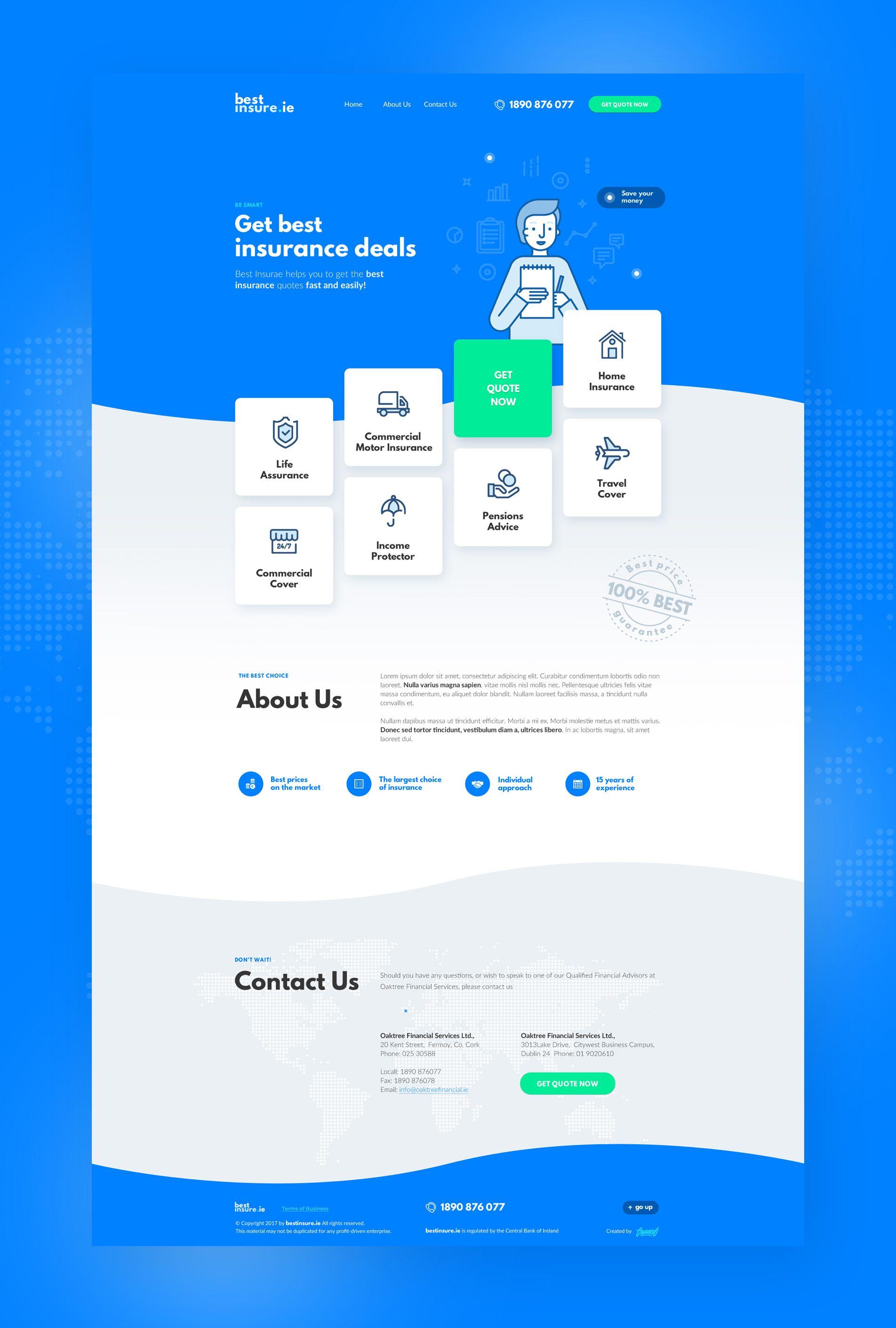 Bestinsure Big Web Design Websites Web Design Trends Web Layout Design