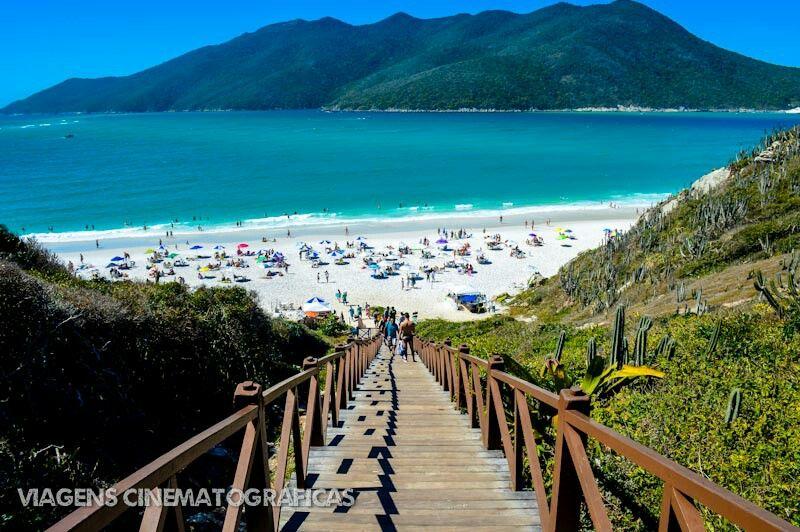 Escada Que Da Acesso A Praia Pontal Do Atalaia Em Arraial Do Cabo
