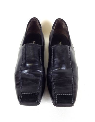 Paul Green Shoes Leather Black Munchen Slip on Athletic Loafers Womens 8 5 9 | eBay