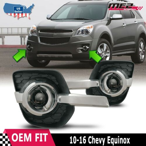 Details About 2010 2015 Chevy Equinox Clear Projector Bumper Fog