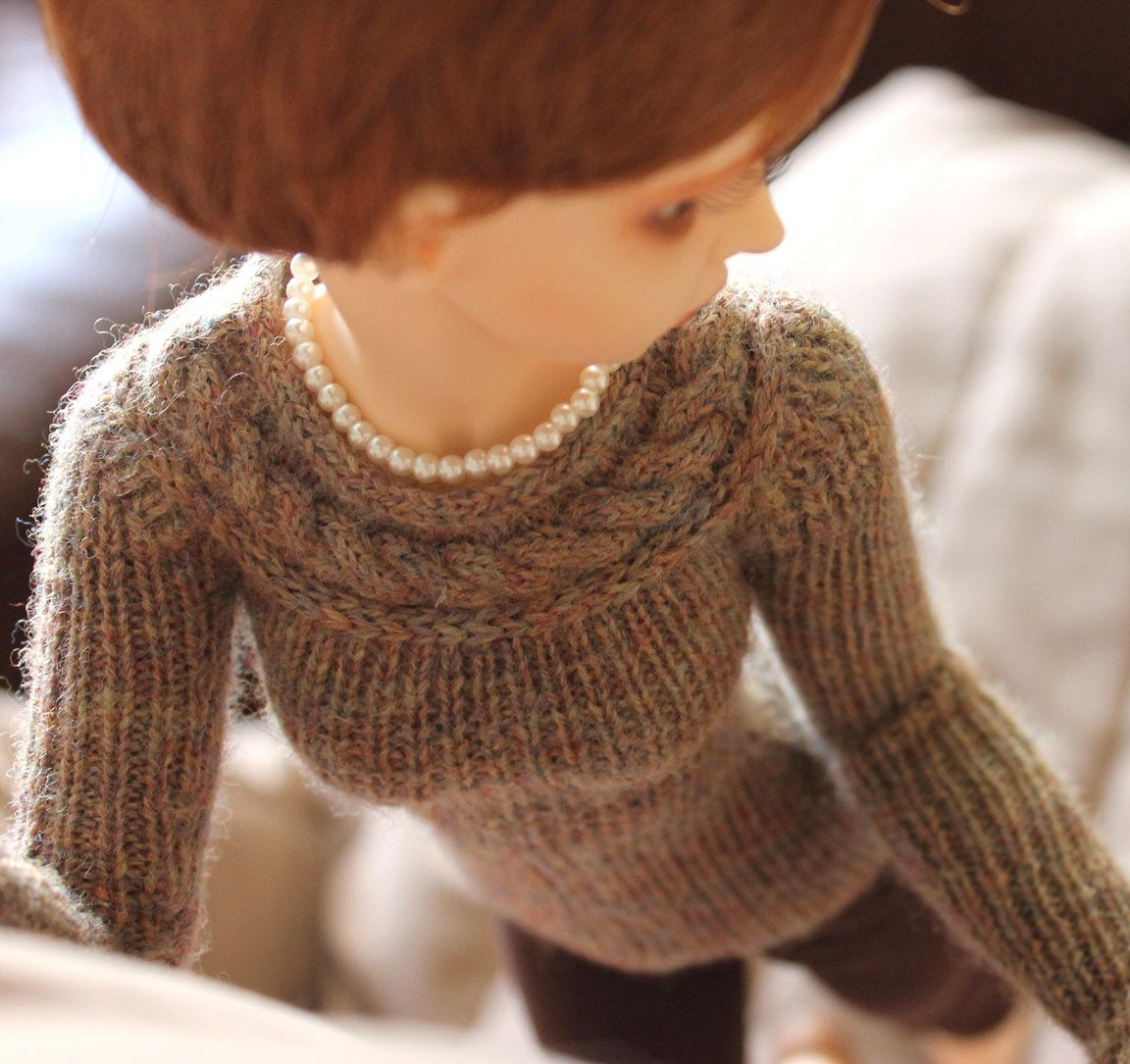 Minifee Knitting PATTERN For Lariat Sweater By Wovenflame