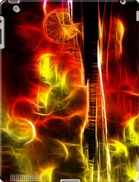 Santa Monica Pier Neon Fire By stine1 for Apple iPad 3