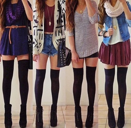 Simple ways on how to wear knee high socks