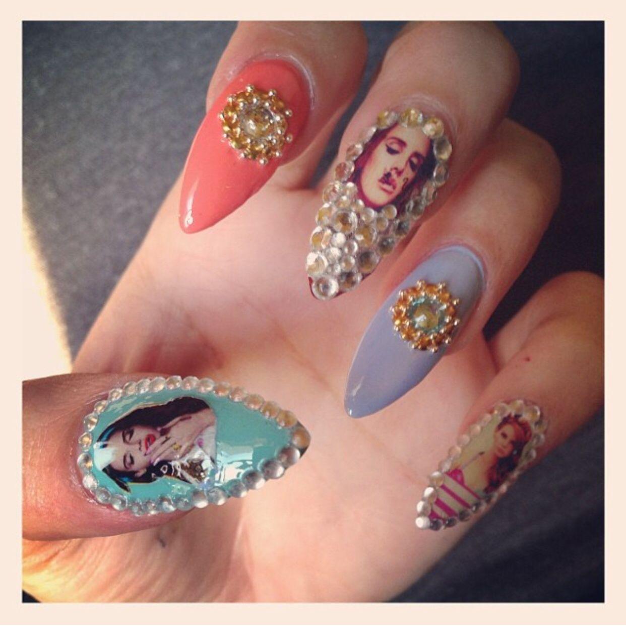 Lana Del Rey Nails My Nail Art Pinterest Lana Del Rey