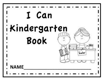 kindergarten i can read and color book