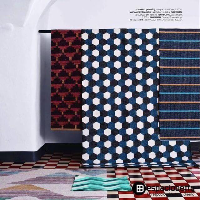 Los diseños de las alfombras de Brita Sweden son coloridos y