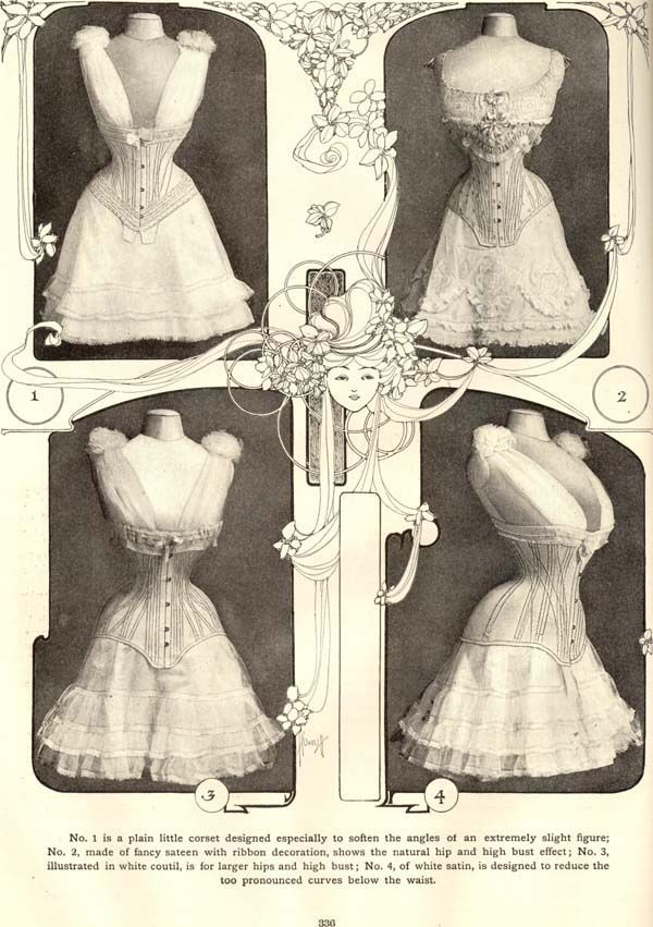 Edwardian S Bend Straight Front Corset The Delineator 1905 Vintage Clothing Styles On Paper