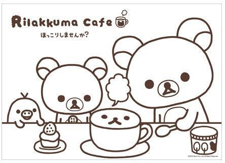 Free printable rilakkuma coloring page embroidery pics for Rilakkuma coloring pages
