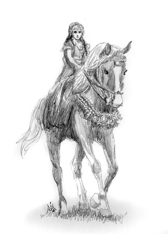 Aravis & Hwin\' by Jef Murray - The Horse and His Boy from the ...