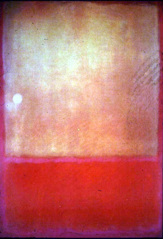 Mark Rothko — I read that one of his paintings from 1954 (Royal Red and Blue) just sold at Sotheby's. it was estimated at $50 million, but breezed past the estimate and sold for $67 million.