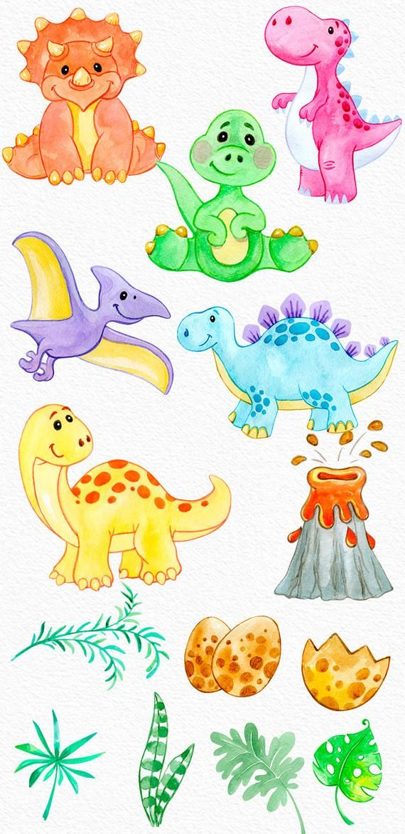 Dinosaurs Watercolor Clipart Set Instant Digital Download Png Etsy In 2021 Easy Dinosaur Drawing Dinosaur Clip Art Dinosaur Drawing