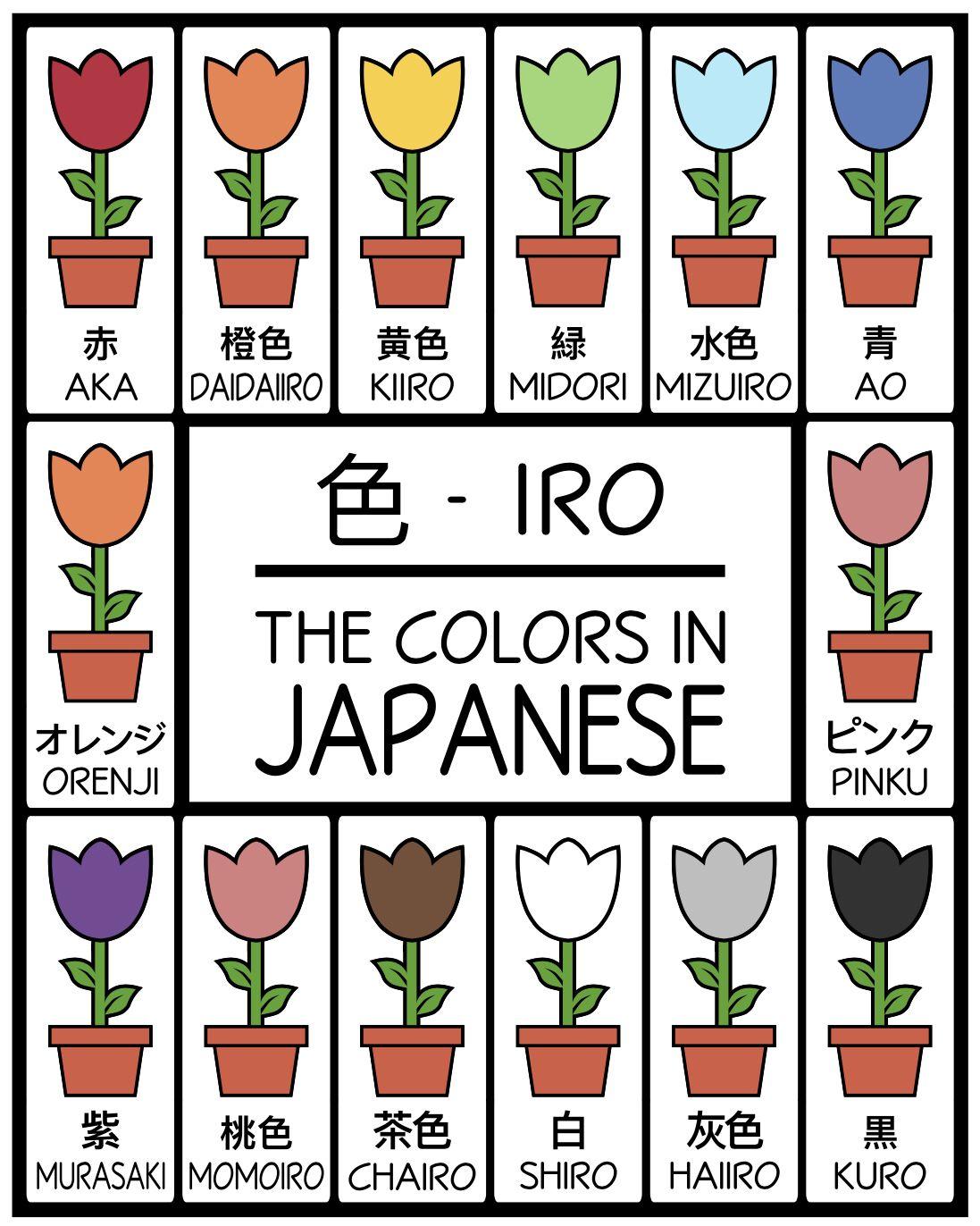Japanese Colors Flower Printables High Resolution