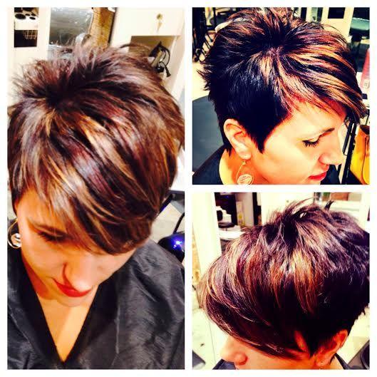Dark Brown With Warm Highlights Hair Styles Sassy Hair Short Hair Styles