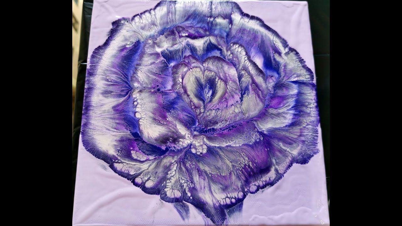 (139) Shades of purple / Spiral flower dip / Acrylic ...