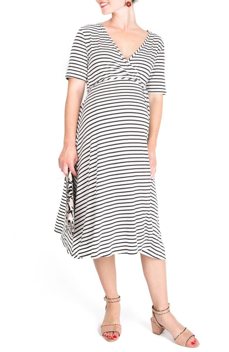 Nom Maternity Maya Maternity Nursing Wrap Dress Nordstrom Elegant Midi Dresses Womens Dress Store Wrap Dress [ 1196 x 780 Pixel ]