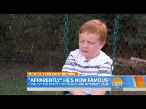 Adorable News Anchor Kid Noah Ritter On Today Show Being On Tv