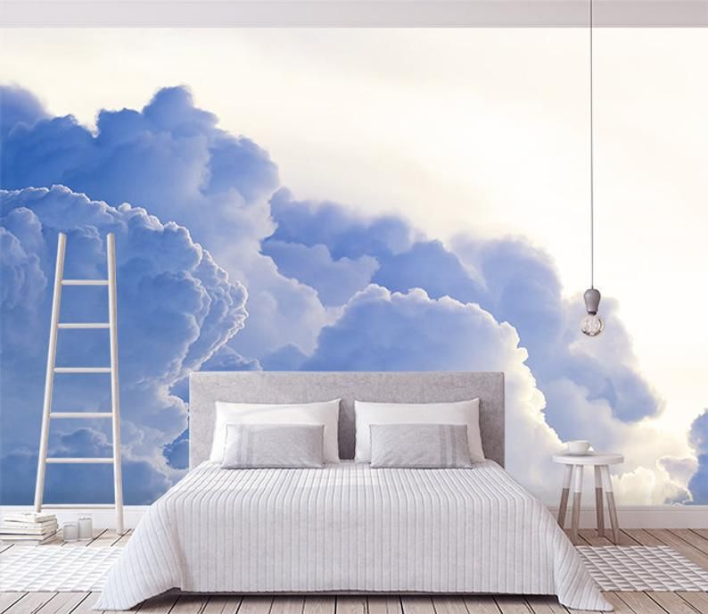 3D Dreamy clouds Wallpaper, Removable Self Adhesive