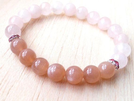 Rose quartz armband