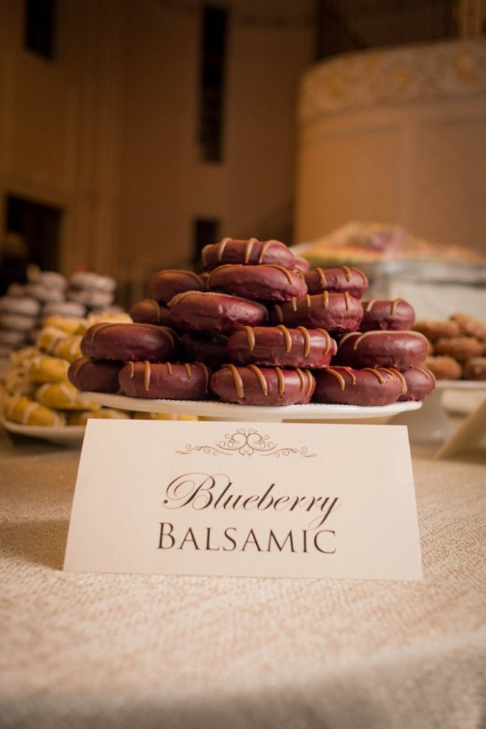 Delight guests with gourmet donuts!  Rebecca Chan Weddings & Events - www.rebeccachan.ca