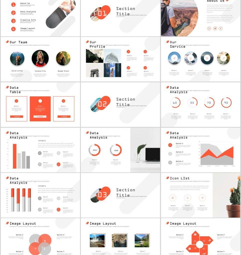 27 Red Creative Annual Report Powerpoint Templates 템플릿 레이아웃
