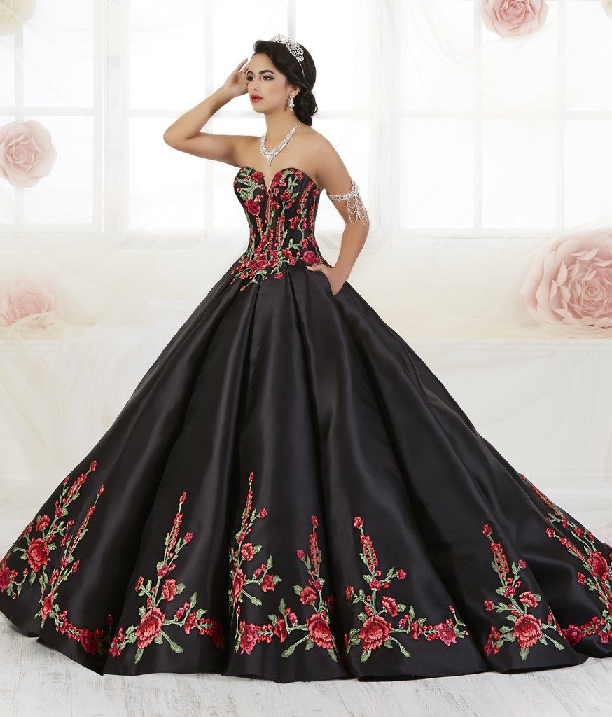 52467600c6bb Floral Embroidered Quinceanera Dress by House of Wu 26908-House of Wu-ABC  Fashion