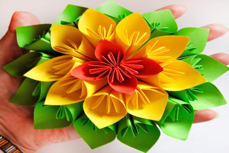 Diy Paper Flower Kusudama Style Brotes De Creatividad Origami