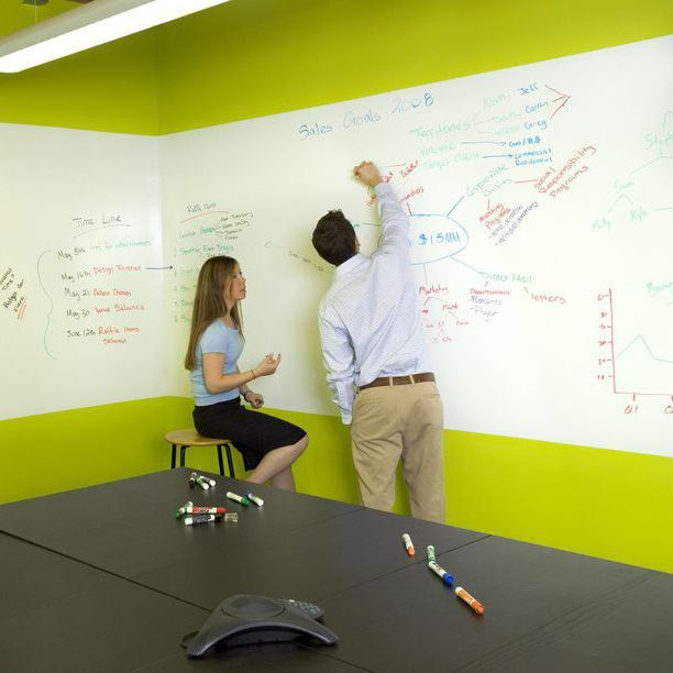 Dry Erase Paint On Wall A Wrap Around Whiteboard So Cool For Work