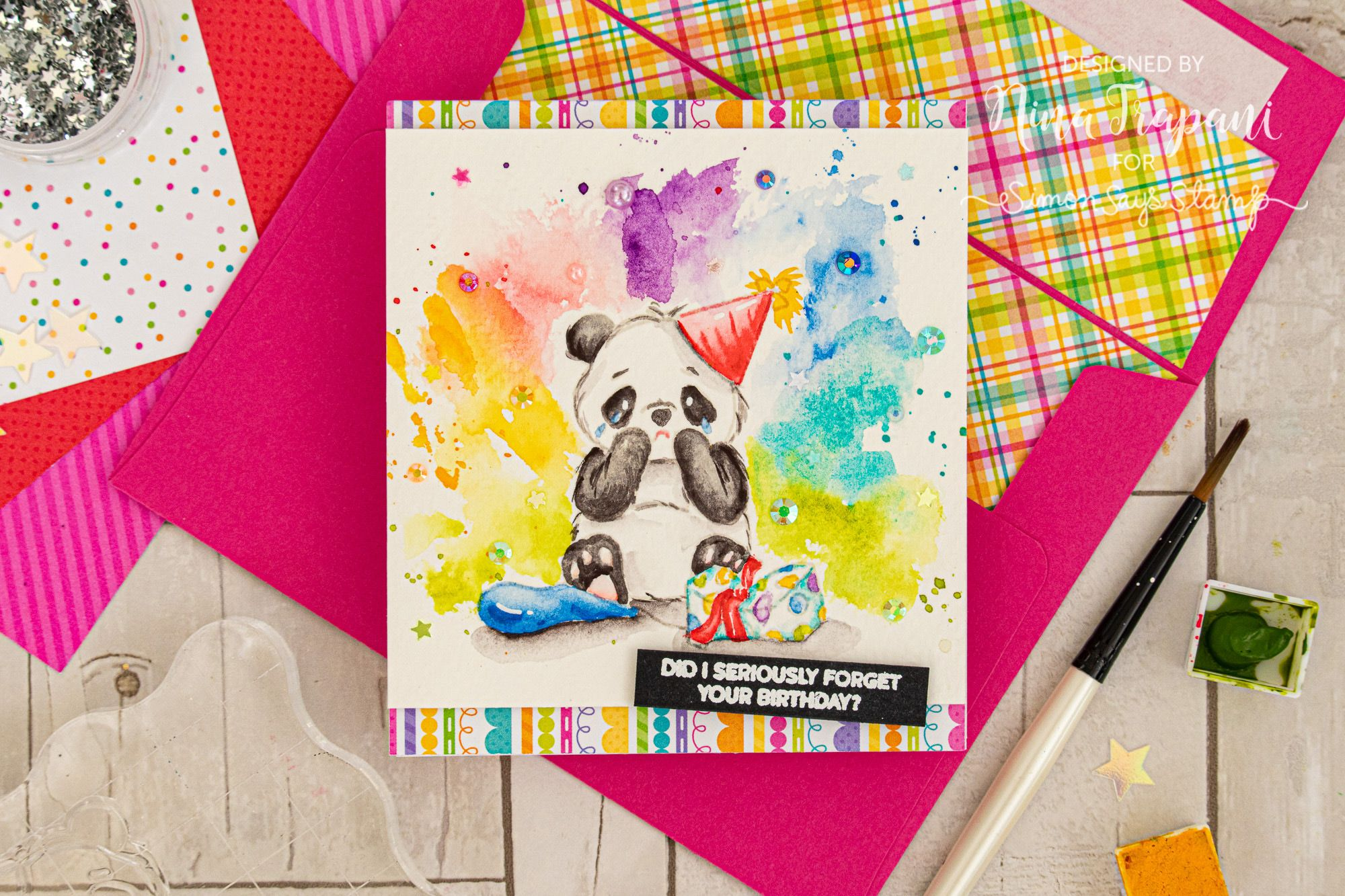 Simon Says Stamp Card Kit of The Month AUGUST 2019 PARTY LIKE A PANDA ck0819 #cardkit