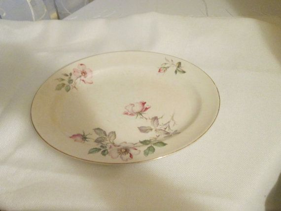 Edwin Knowles Semi Vitreous Oval Wild Rose Plate & Edwin Knowles Semi Vitreous Oval Wild Rose Plate | Shabby chic decor ...