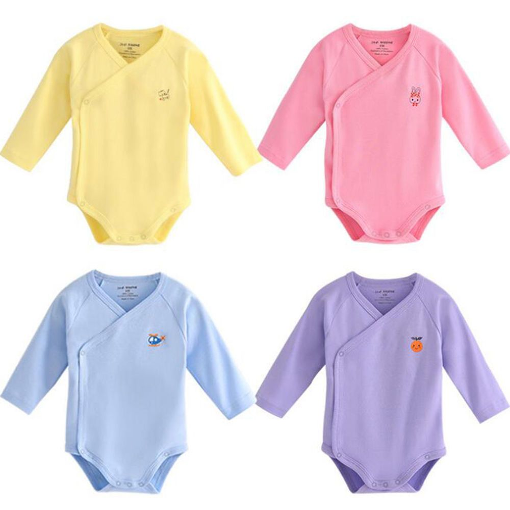 43f1b7fdec3c Unisex-Baby Pack of side snap bodysuit 100% Cotton Long Sleeves ...