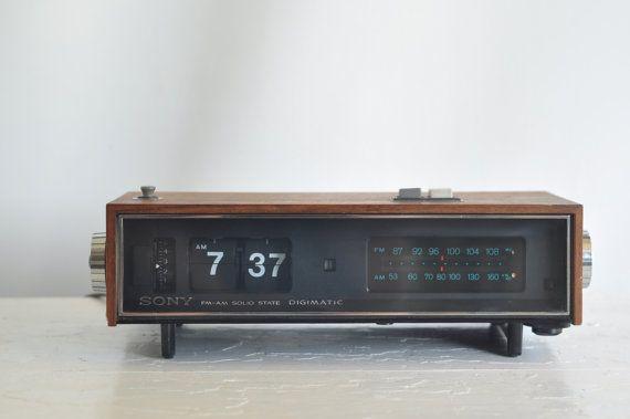 Sony 1968 Vintage Clock Radio Alarm Clock By Vintagemindedmaven